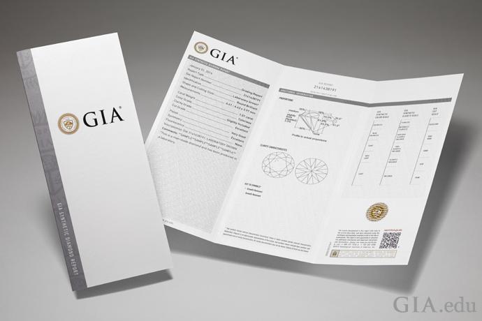GIA 实验室制造钻石鉴定证书。