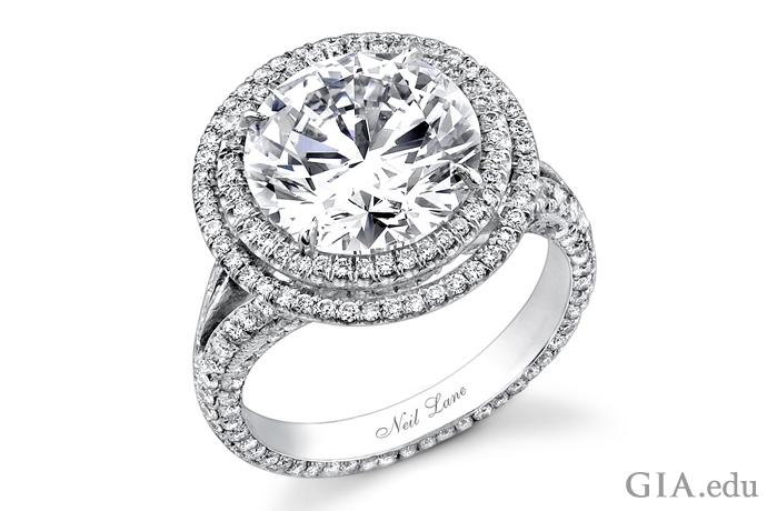 a 5 ct round cut diamond designed for actress jennifer hudsons engagement to david otunga - Neil Lane Wedding Ring