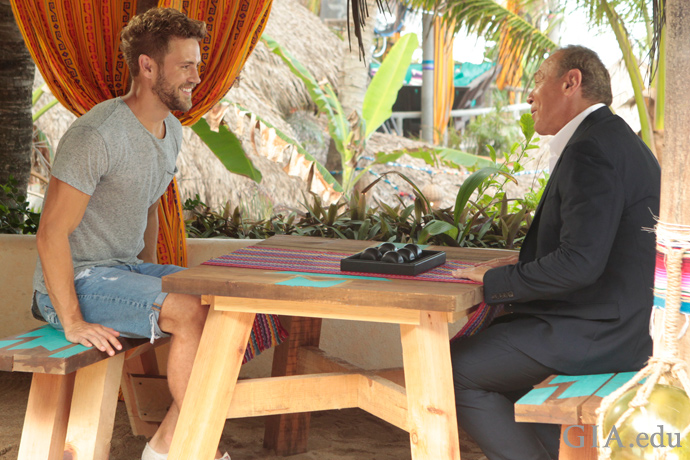 "Neil Lane meets with contestant Nick Viall on ABC-TV's ""Bachelor in Paradise."""