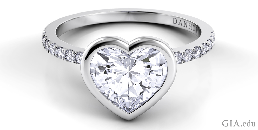 the heart shaped engagement ring a symbol of love - Heart Shaped Wedding Ring