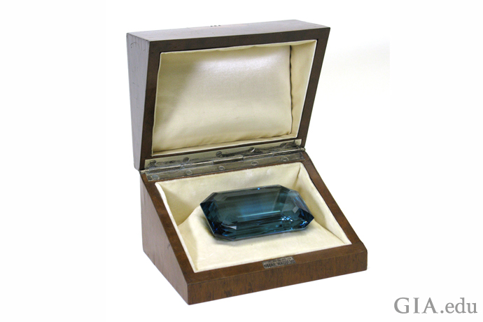 The government of Brazil gave this 1,298 ct rectangular step cut aquamarine to Eleanor Roosevelt