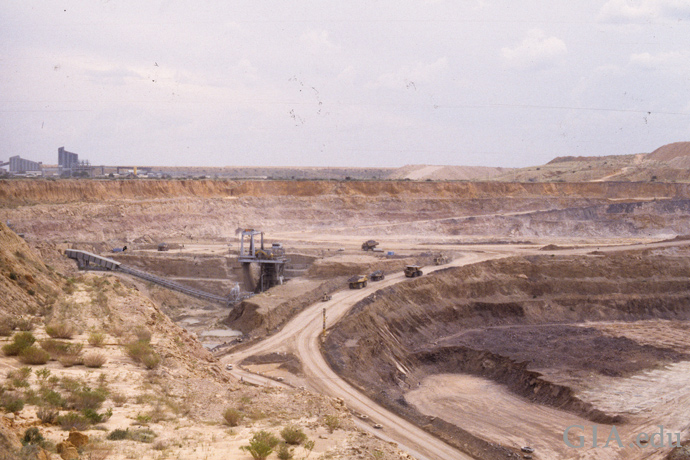The Jwaneng open pit diamond mine.