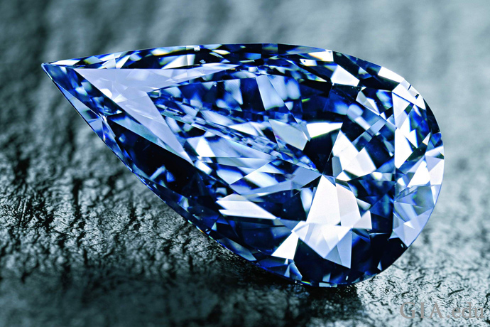 The Blue Empress, a 14 carat Fancy Vivid blue diamond.