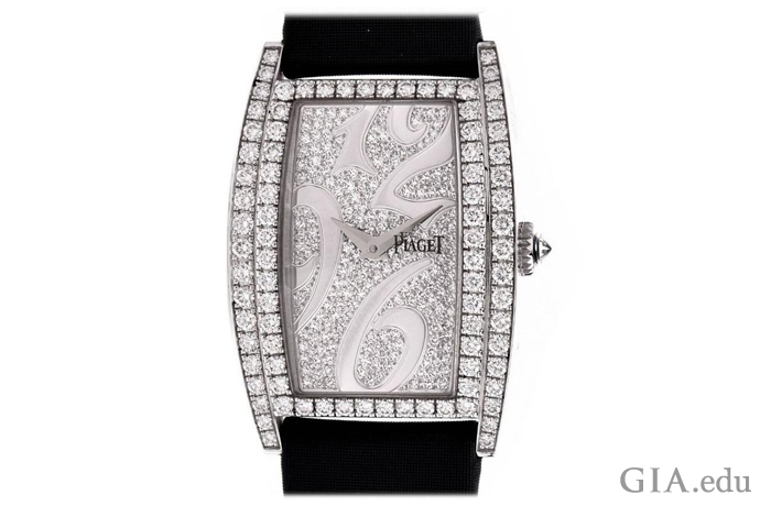 Piaget Limelight ladies watch featuring 4.37 carats of melee diamonds.