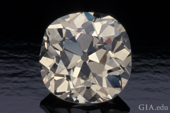 A 4 carat old mine cut diamond.