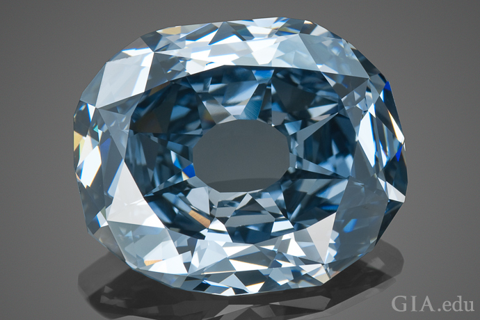 The 31.06 ct Wittelsbach-Graff diamond, recut from the historic Wittelsbach Blue