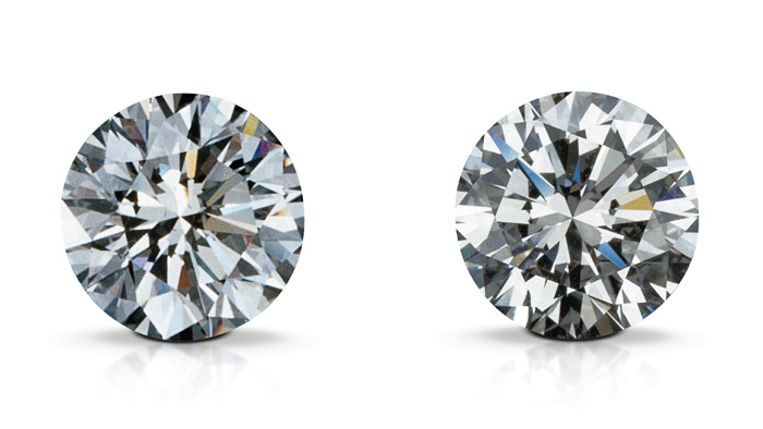 A Synthetic Diamond Left And Natural Right Can Ear Identical