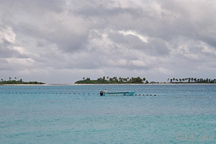 フランス領ポリネシアにある真珠養殖場