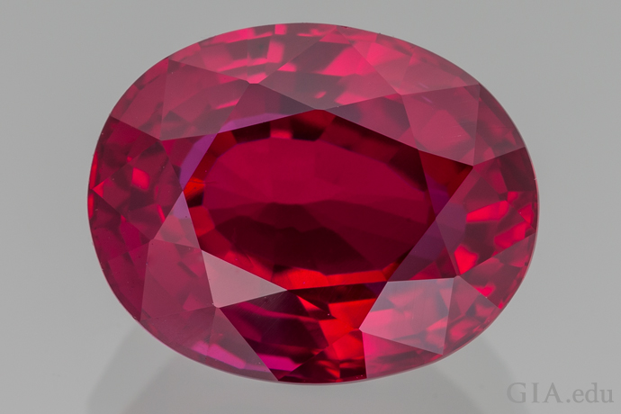 4.04 carat (ct) ruby came from Mozambique, the pre-eminent source of commercial and fine rubies.