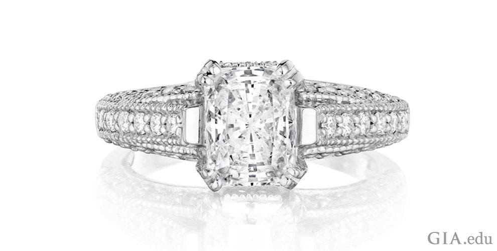 cut diamond radiant g ctw ring bigdiamondsusa engagement