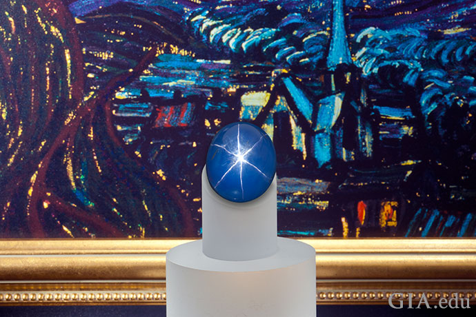 The Starry Night Sapphire comes from Myanmar, one of the most important sources of the gem.
