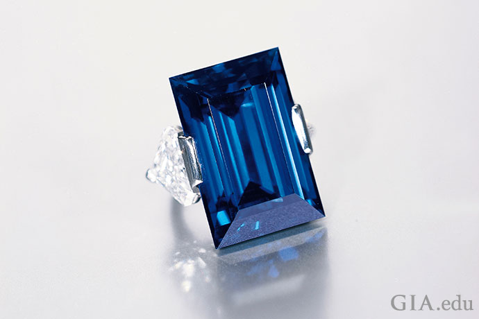 The Rockefeller Sapphire is a 62.02 ct rectangular step-cut sapphire weighing 62.02 ct.