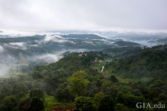 A scenic view near Mogok rivals the beauty of the sapphires hidden underground.