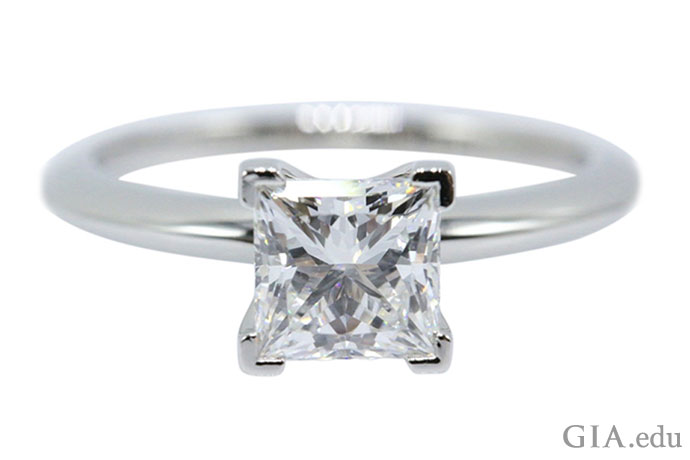 A princess cut diamond can rival the brightness of a round brilliant.