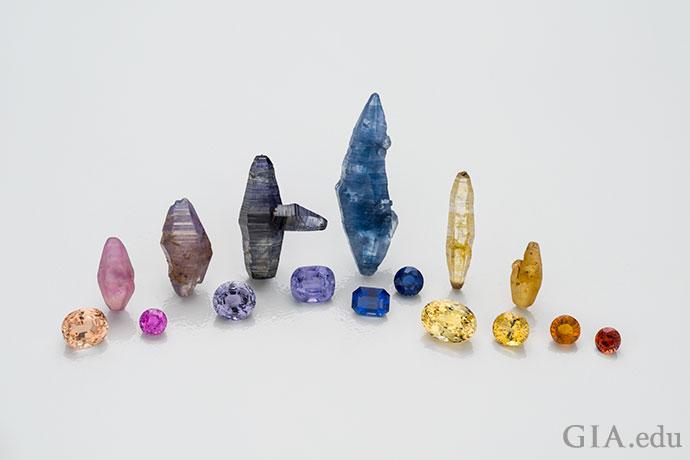 蓝宝石令人陶醉的颜色。