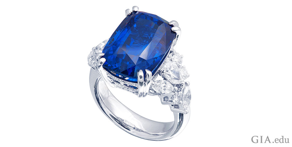 diamond ring engagement huge sapphire color best vivid blue watch stone gia