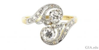 Art Nouveau engagement rings are beautiful but rare.