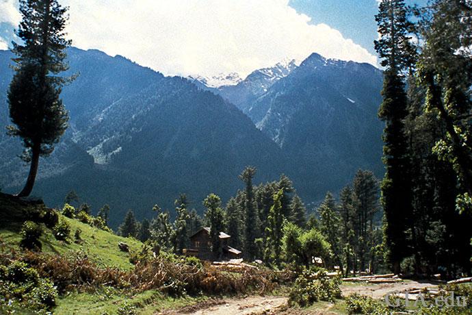 喜马拉雅山是美丽的克什米尔蓝色蓝宝石的产地。