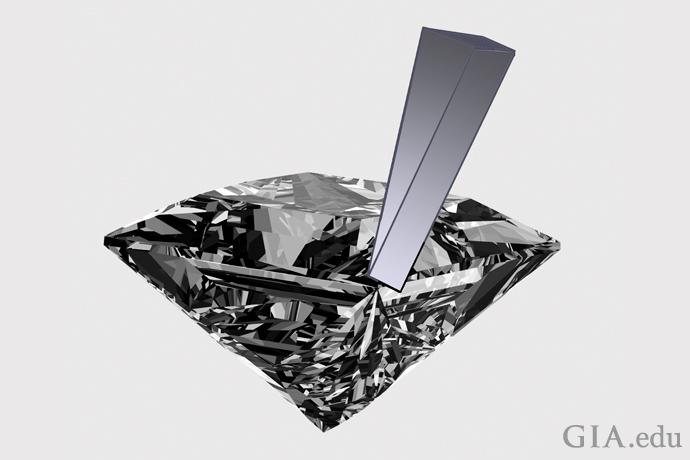 プリンセスカットの角部分は劈開面に近接しているため、欠けに対してより脆弱である。