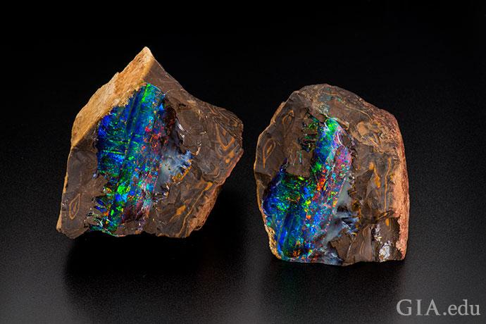 砾岩蛋白石很美,仅在昆士兰发现了这种宝石。