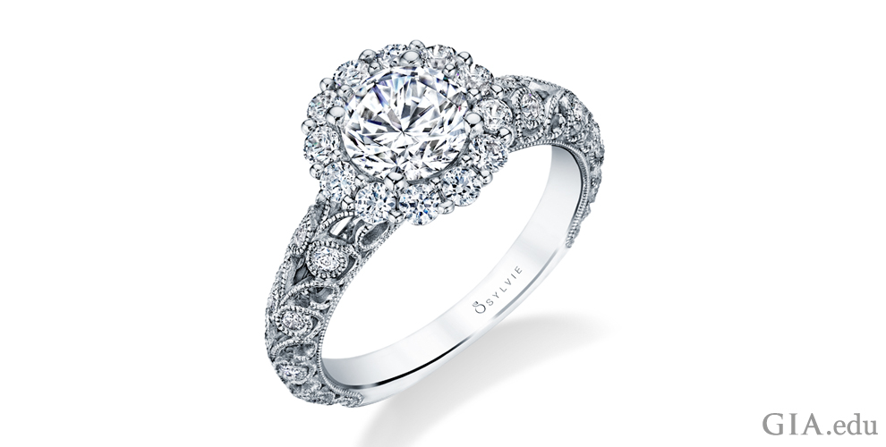 Diamond engagement ring designed by Sylvie.