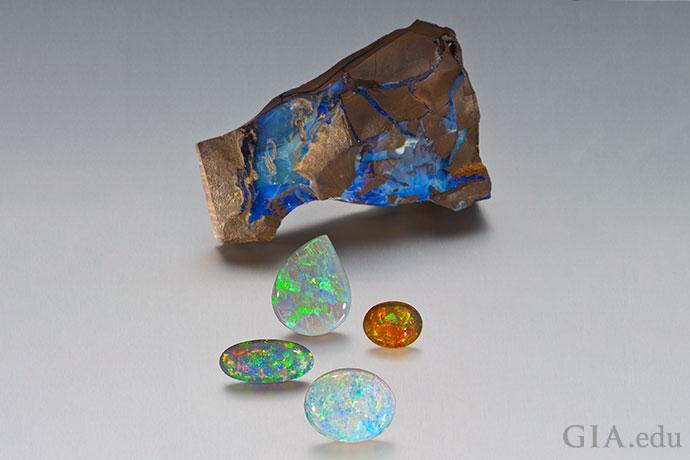 蛋白石令人着迷的游彩很容易让人一见倾心。