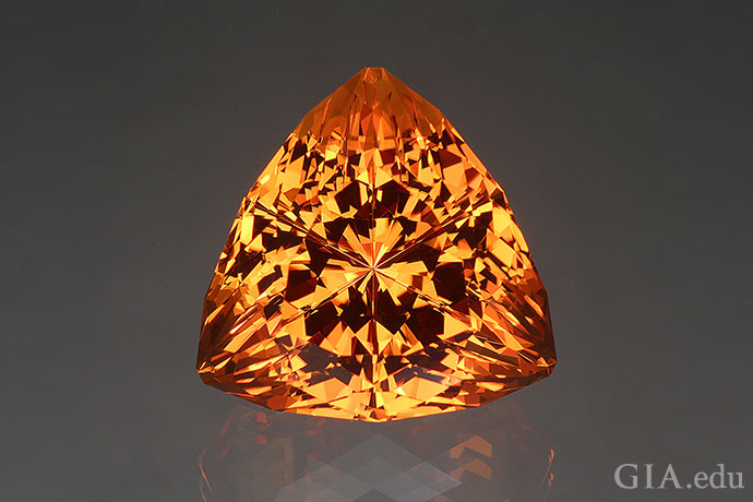 A 43.49 ct fantasy cut citrine.