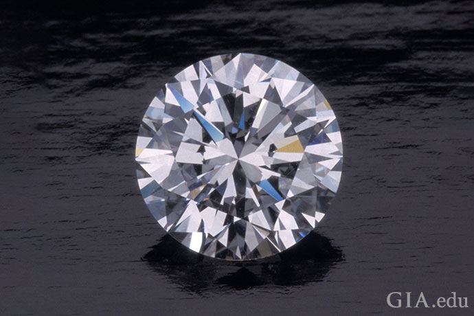 2.78 carat (ct) D-color round brilliant diamond that is internally flawless.