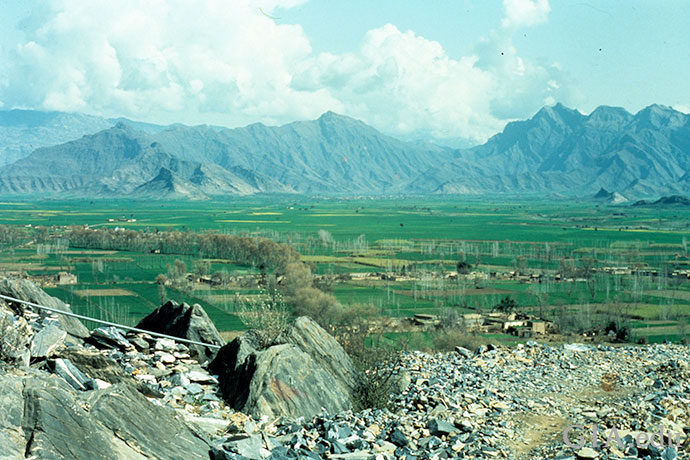 Ghundao Hill, a valley carpeted in green in Northwestern Pakistan, is known for producing topaz the November birthstone.