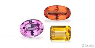 November birthstones: pink topaz, Imperial topaz and citrine.