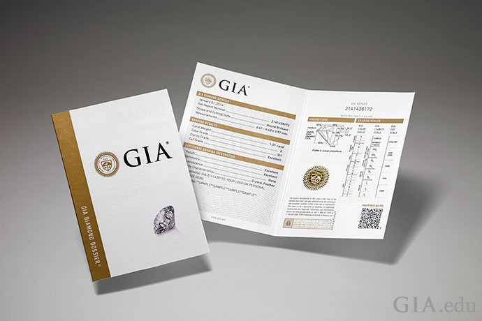A GIA Diamond Grading Report