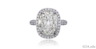 18K White Gold 10.09ct Cushion Diamond Halo Engagement Ring