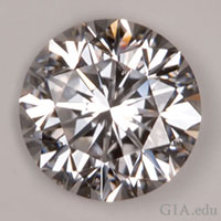 "A diamond displaying a ""Good"" cut grade."