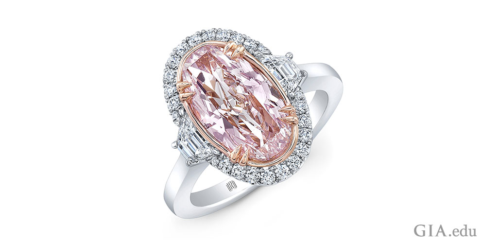 2.32 ct oval pink diamond