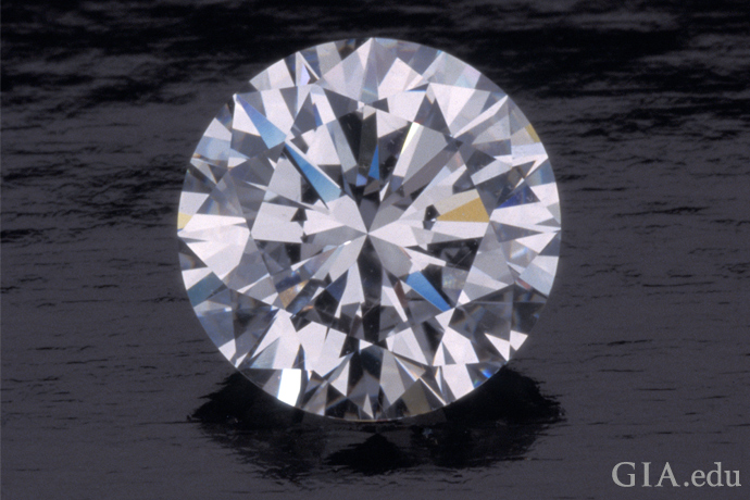 A D color, Internally Flawless 2.78 ct round brilliant cut diamond.