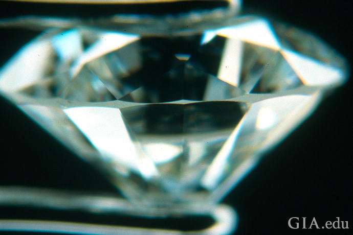 A 1.35 carat diamond with girdle areas very think to extremely thin.