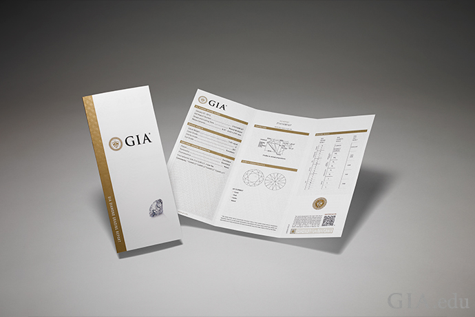 For peace of mind, look for diamond stud earrings that have a GIA Diamond Grading Report.