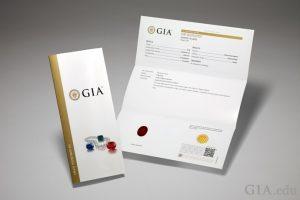 GIA Colored Stone Report