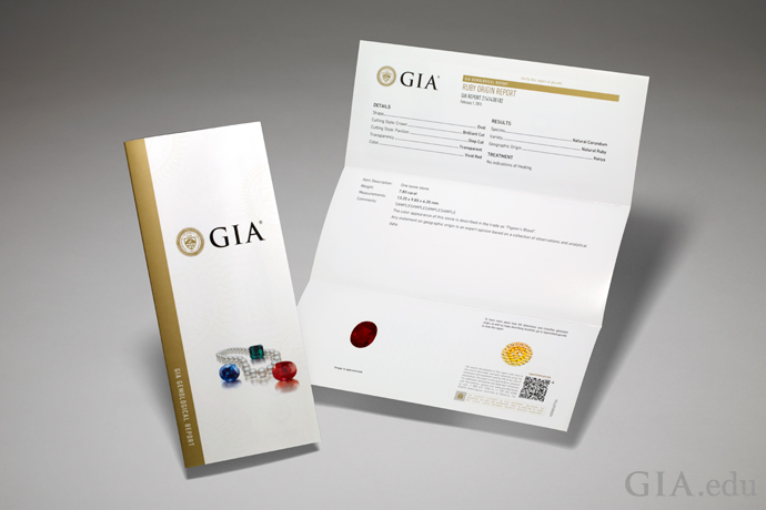GIA Colored Stone Report