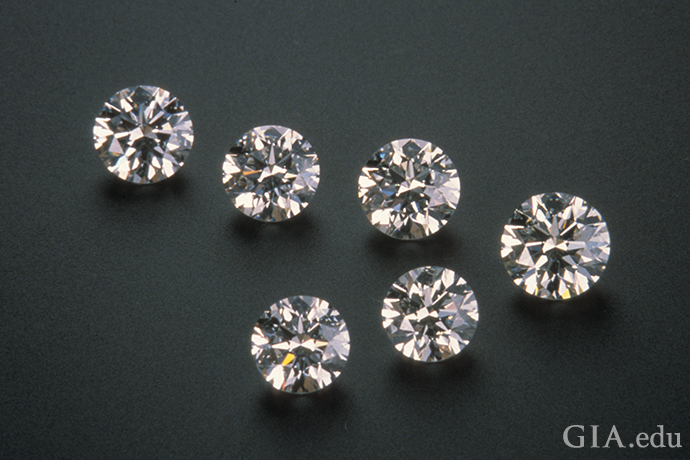 A photo showing diamonds ranging from 0.75 carats to 1.01 carats.