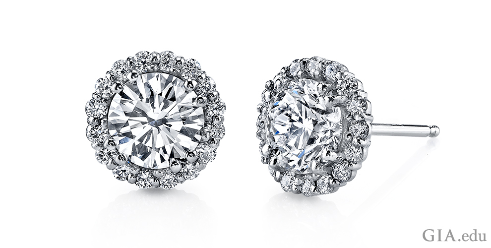 Diamond stud earrings are a jewelry staple. Wear them to add a splash of  style 5b9197e88290c