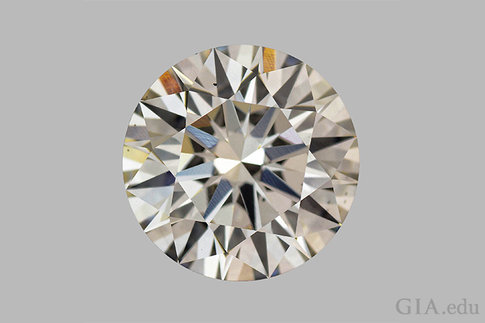 A 3.23 carat (ct) synthetic diamond.