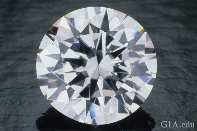 A diamond simulant cubic zirconia (CZ).