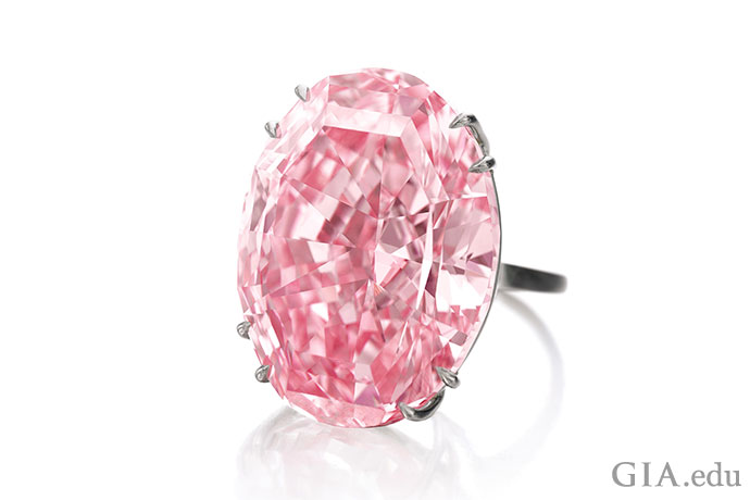 There is only one CTF Pink Star, the 59.60 ct Fancy Vivid pink diamond that recently sold for $71.2 million. It is one of Earth's unique treasures. Courtesy: Sotheby's