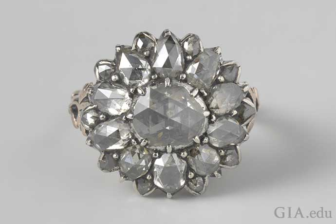 18th century antique diamond ring.