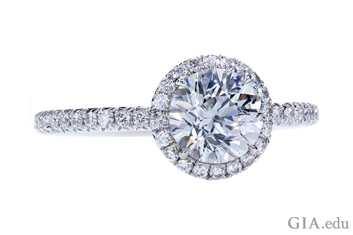 A 1.01 carat diamond engagement ring with a clarity grade of VS1.