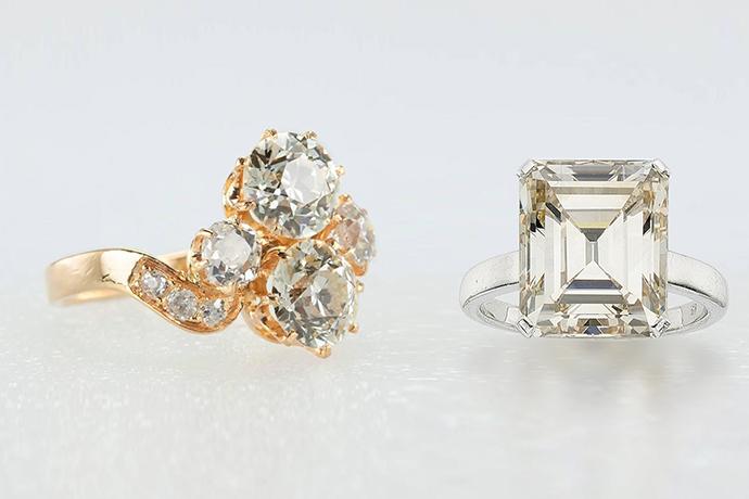 暖かい色のダイヤモンド